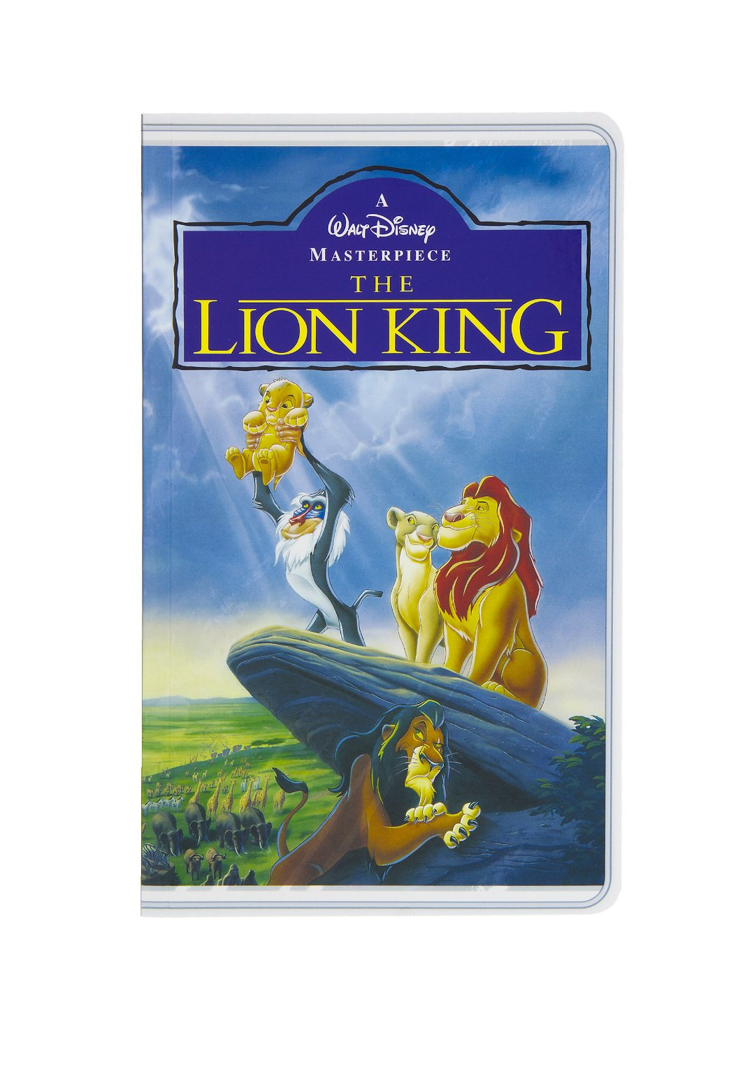 Disney Parks The Lion King VHS Cover Blank Book Journal Diary