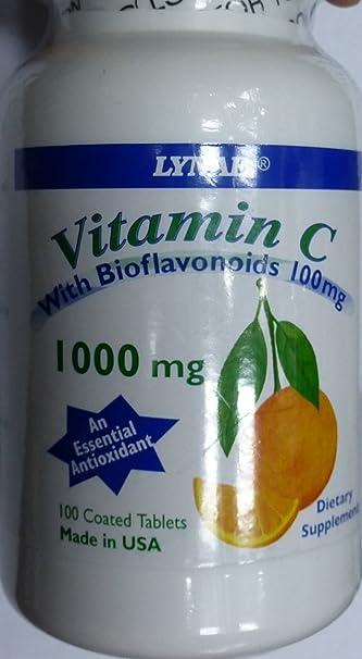 Lynae Vitamin C + Bioflavonoids 100 mg. 100 Tabs