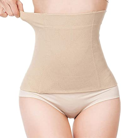 Womens Postpartum Waist Trainer Belt Body Shaper Belly Wrap Compression Band