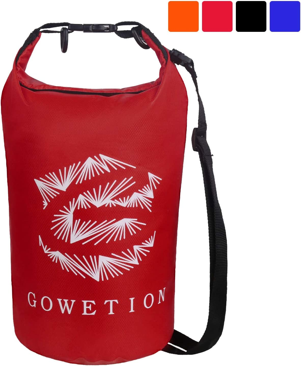 Boating Hiking GOWETION Floating Waterproof Dry Storage Bag Floating with 4.5L//10L Adjustable Shoulder Strap Roll Top Keeps Dry for Kayaking Rafting Beach Fishing Camping Swimming