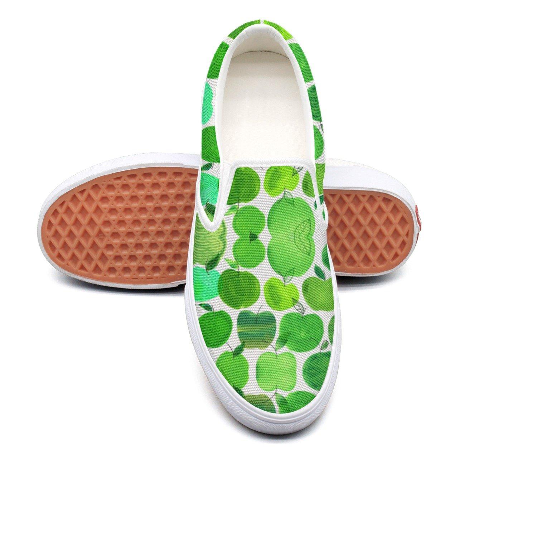 RegiDreae Canvas Slip On Sneakers For Women Illustration Apple Fruit Fashion Sneaker