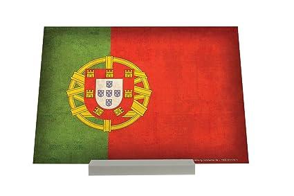 Soporte Fotografias Aventurero bandera de Portugal Letrero Decoración