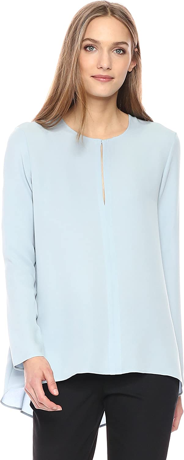 Theory Womens Long Sleeve Slit Front Tunic