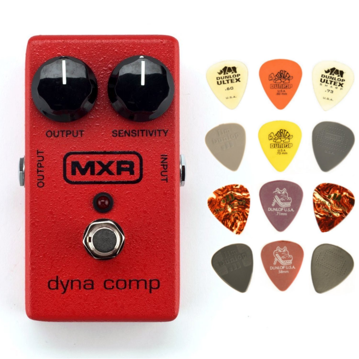 MXR M102 Dyna Comp Compressor Pedal Bundle with Dunlop Pick Pack