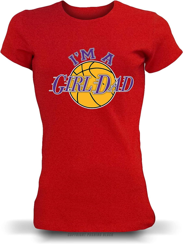 Im a Girl Dad Ladies T-Shirt PUSHING BLACK Kobe