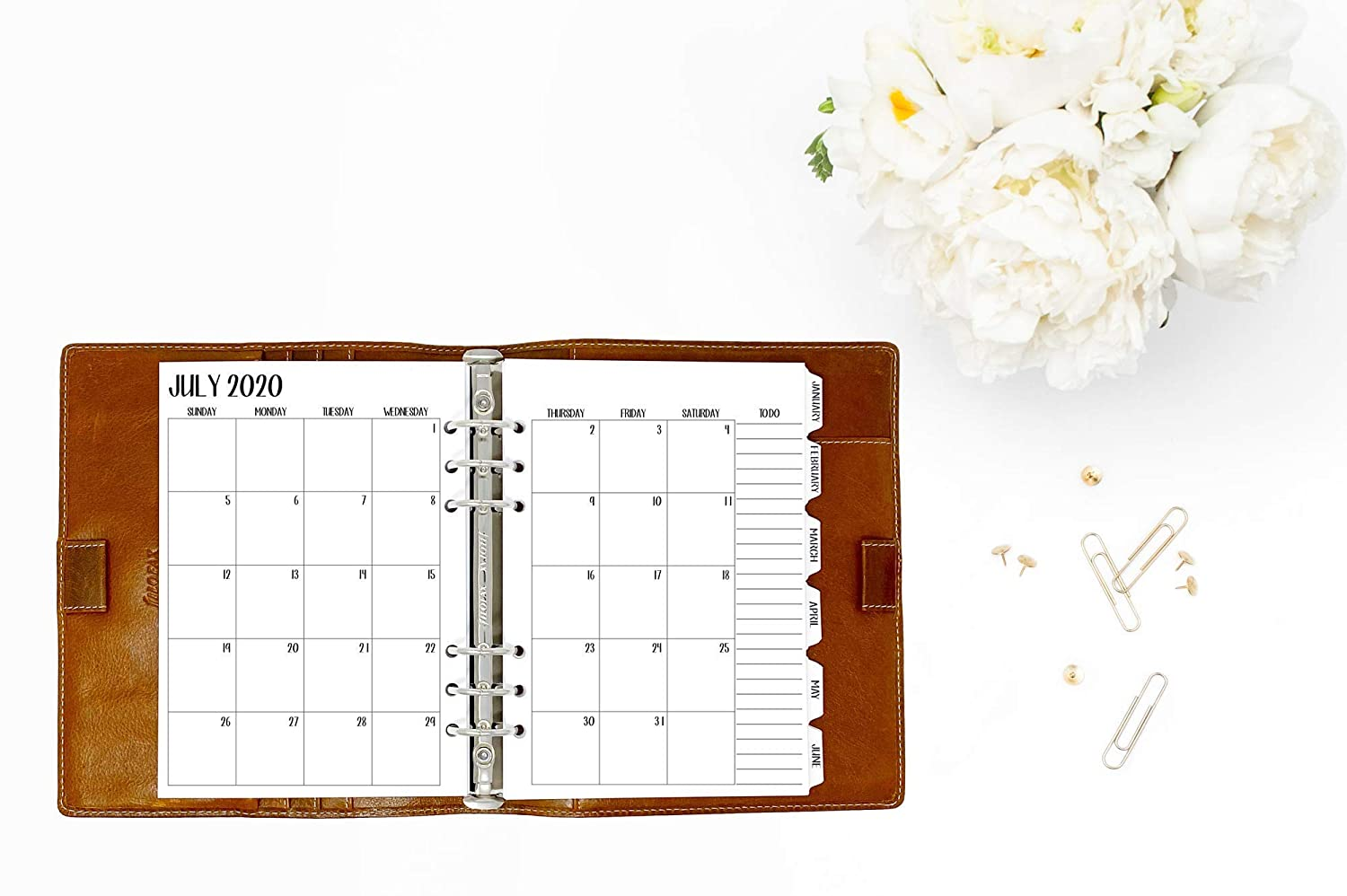 July 2020 A5 Academic 2020-2021 Month on 2 Pages calendar planner deluxe refill Monthly Sunday Start 5.83 x 8.27 inches June 2021