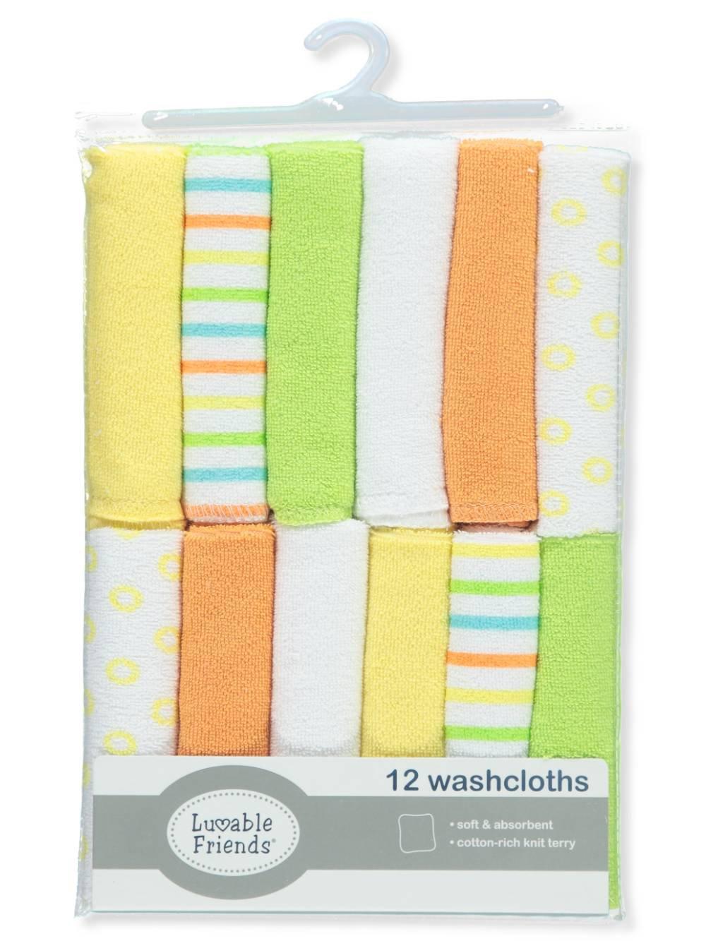 Amazon.com: Luvable Friends - 12 paños de lavado, diseño de ...