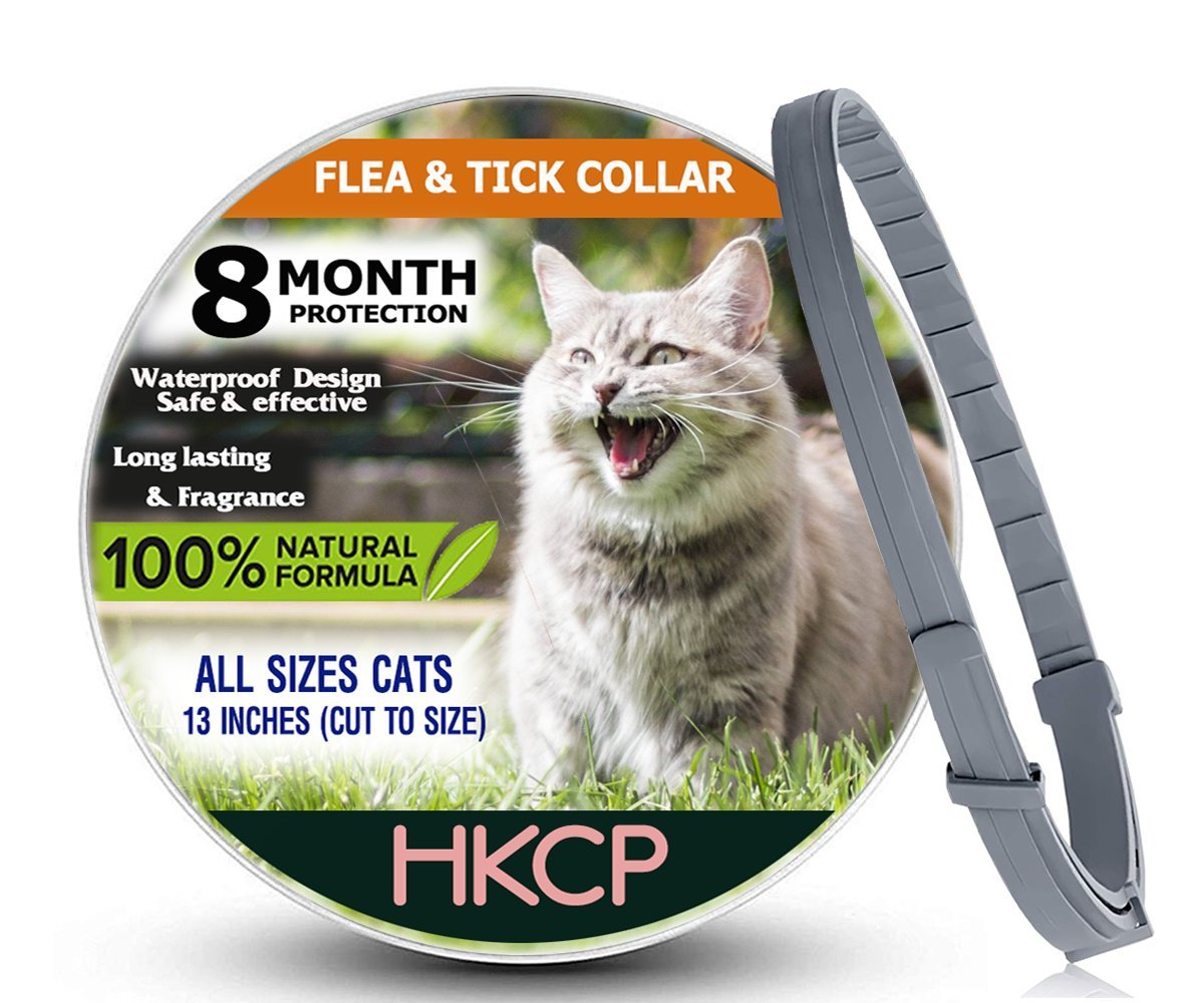 NEW VISION 2018HKCP- Flea and Tick Collar For Cat - 8 months protection ALLERGY-FREE Medicine-Waterproof flea tick collar.