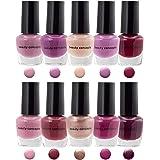 B.C. Beauty Concepts Nail Polish Set - 10 Mini Nail Polish Colors, Quick Dry Nail Polish for Women and Girls
