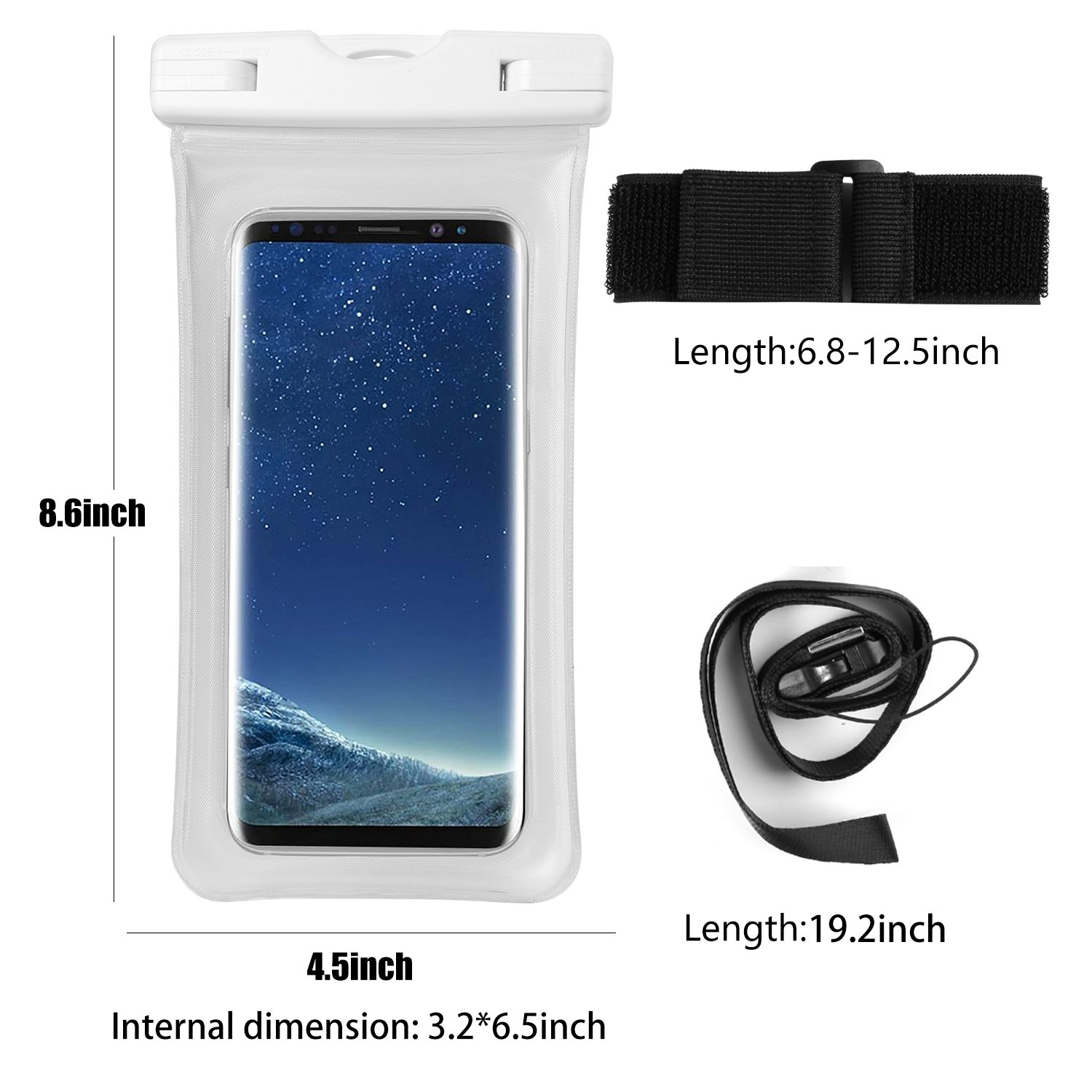 Amazon com: Universal Floating Waterproof Phone Pouch Dry Bag w