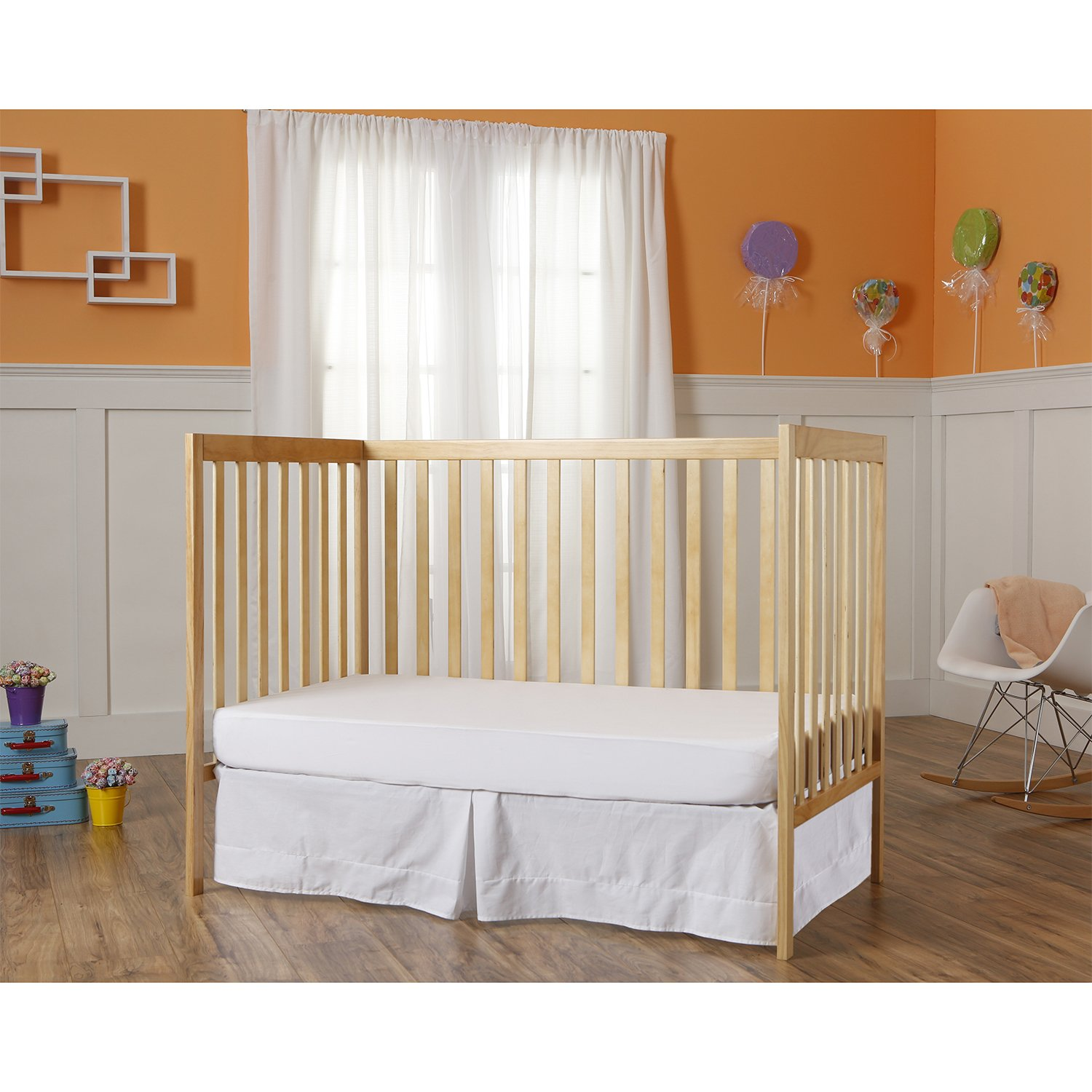 Dream On Me Synergy 5-in-1 Convertible, Crib, Natural by Dream On Me (Image #4)