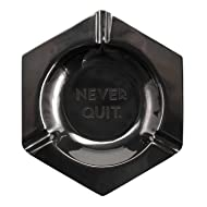 Easy Tiger Metal Catchall Tray Ashtray, Never Quit, Gun Metal