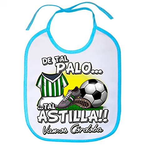 Babero De tal palo tal astilla Córdoba fútbol - Celeste: Amazon.es: Bebé