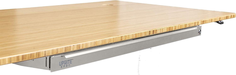 Uprite Ergo Under Desk Long Slim Tray Drawer for Height Adjustable Desks Black