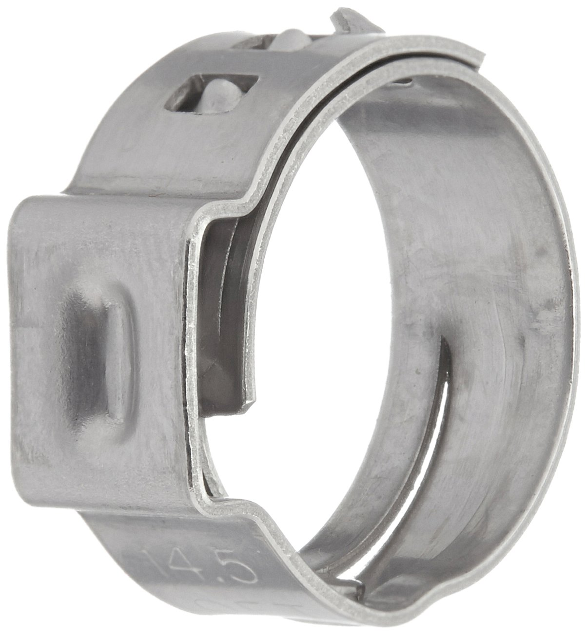 Oetiker 16700013 Stepless Ear Clamp, One Ear, Clamp ID Range 12 mm (Closed) - 14.5 mm (Open) (Pack of 50)