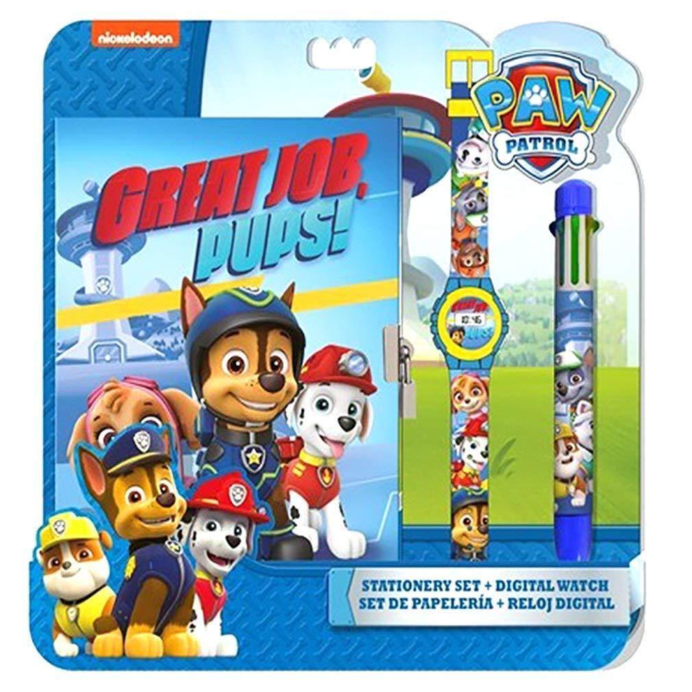 PAW PATROL - Set con Reloj, Diario y bolígrafo (Kids PW16177): Amazon.es: Juguetes y juegos