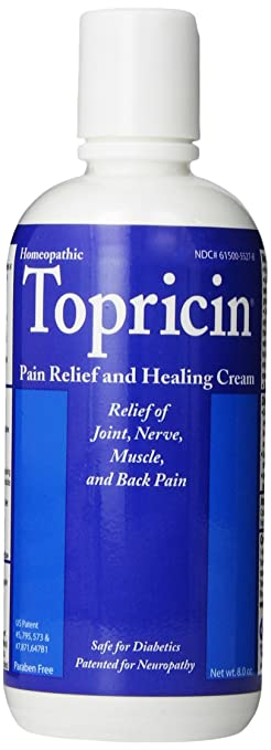Topricin Topical Pain Relief Cream, 8 Ounce