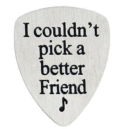 Amazon.com: BESPMOSP I couldn\'t Pick a Better Friend Guitar Pick ...