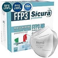 FFP3 mask CE gecertificeerd Gemaakt in Italië. Maskers BFE ≥99%. set van 10 mondkapjes ffp3 UV-C GESANITISEERD en…