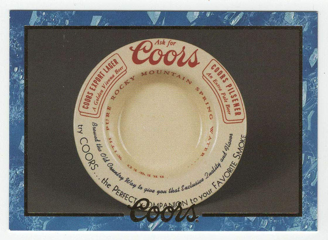 Porcelain Ashtray - Coors Cards (Trading Card) # 25 - Coors Brewing 1995 NM/MT