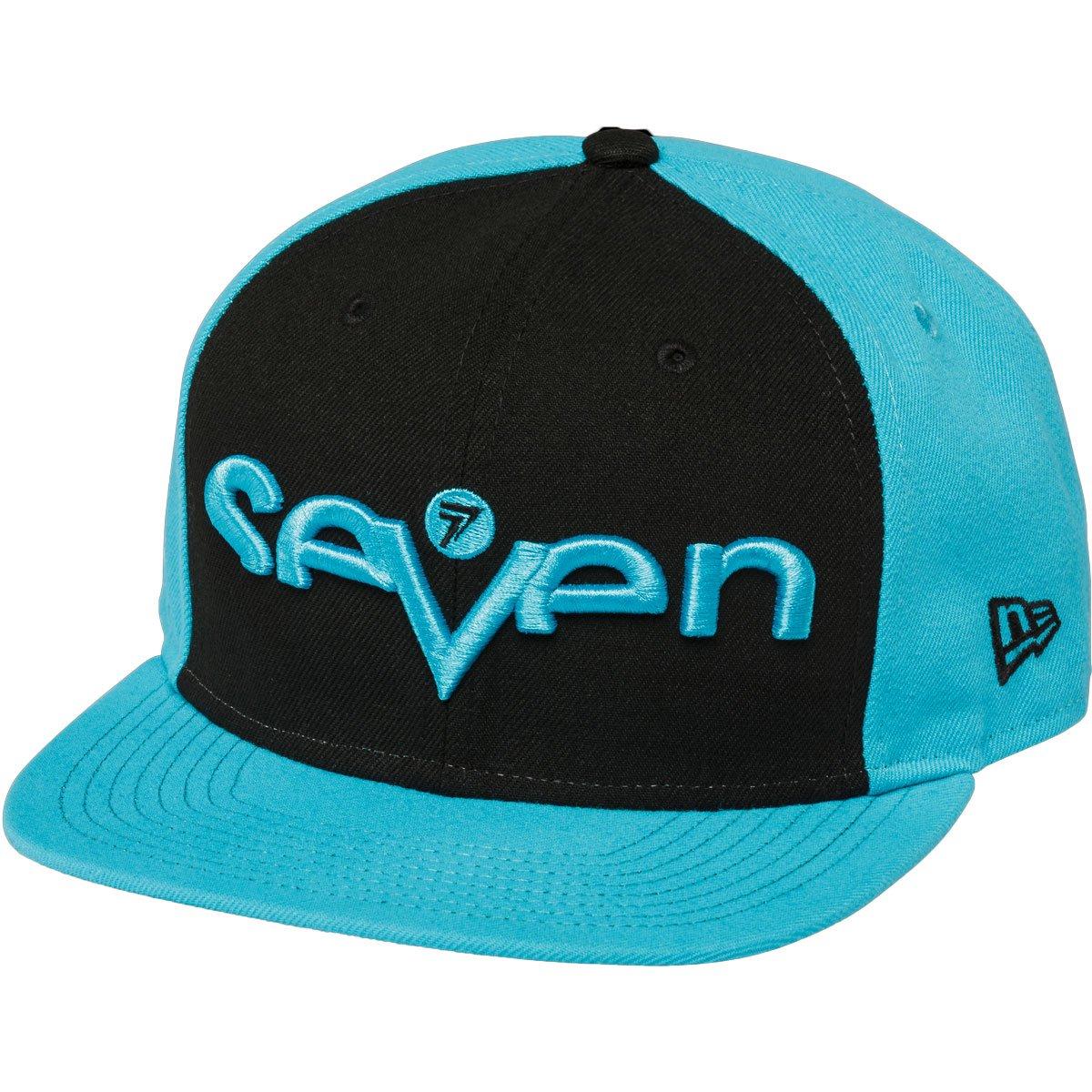 Seven Youth Brand Snapback Hat-Black/Light Blue