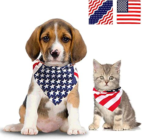 US American Flag Stars and Stripes Waving United States USA Dog Pet Bandana