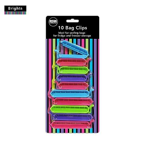 Producto nuevo 10pk pinzas para bolsas con cierre al vacío comida en varios colores