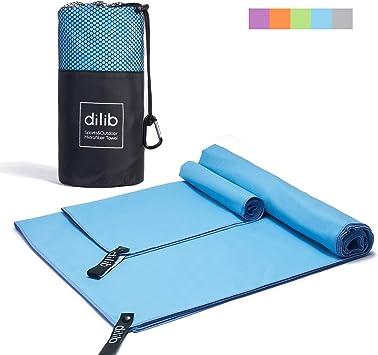 Amazon.com: Juego de toallas de viaje de microfibra de Dilib ...