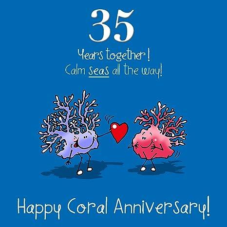 Immagini Anniversario Di Matrimonio 35 Anni.35 Anniversario Di Nozze Biglietto Di Auguri Corallo