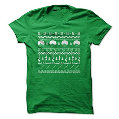 231fddbf2 Amazon.com: Wizard Movie - Ugly Christmas Sweater - Funny T-Shirt - Made On  Demand in USA: Clothing