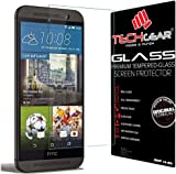 TECHGEAR Screen Protector fits HTC One M9 - GLASS Edition Genuine Tempered Glass Screen Protector Guard Cover Compatible with HTC One M9
