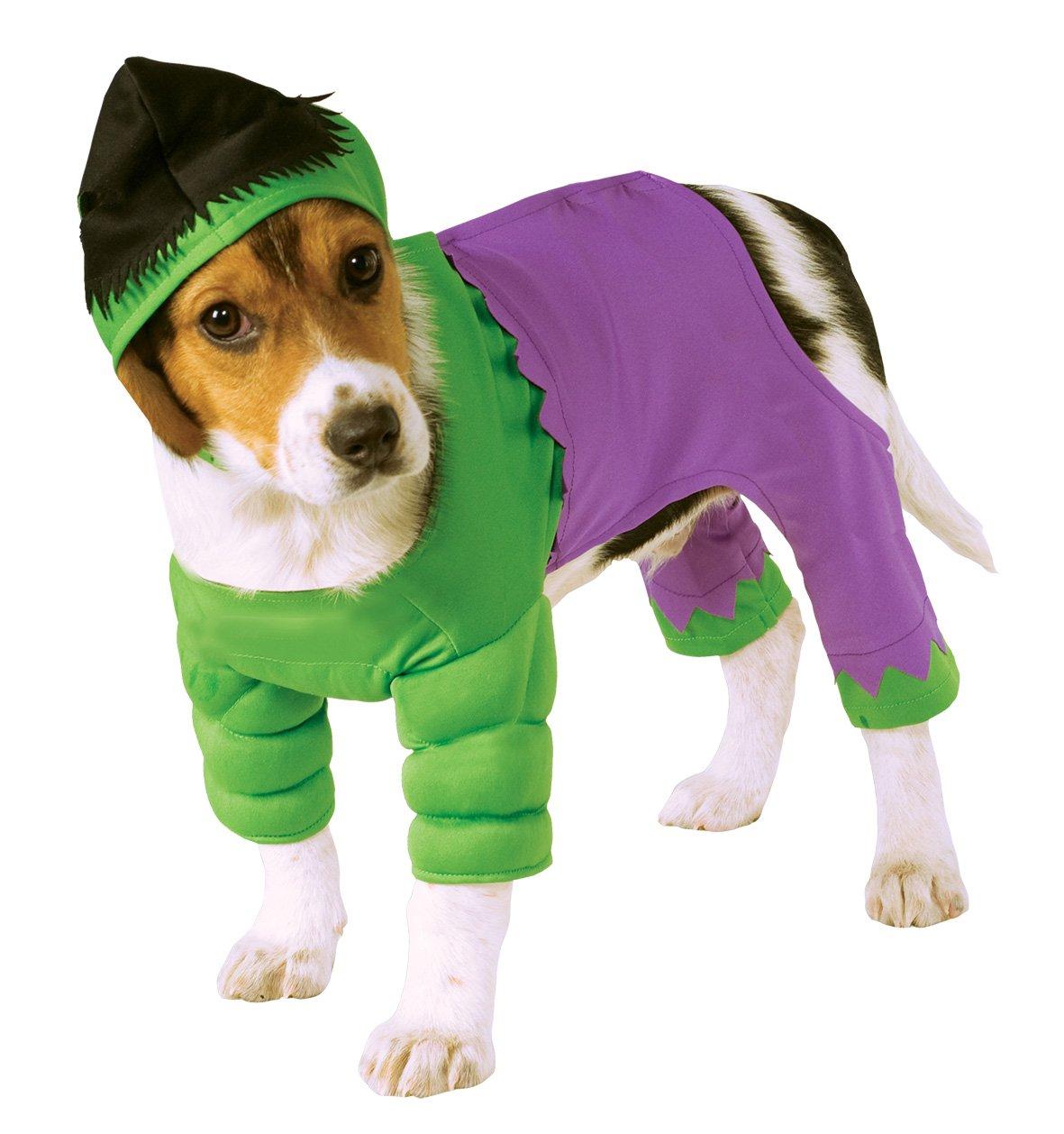 amazoncom rubies costume company marvel universe the hulk pet costume small pet supplies