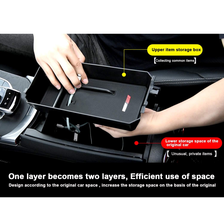 Blanco RUIYA Consola central con reposabrazos personalizada para 2016 2017 NGX50 ZYX10 C-HR bandeja de almacenamiento accesorio para el autom/óvil organizador de consola bandeja de inserci/ón