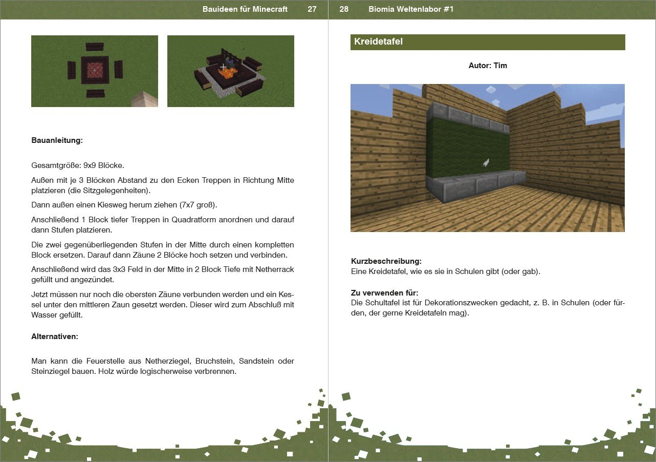 Biomia Weltenlabor 1 Bauanleitungen Fur Minecraft Amazon Co Uk