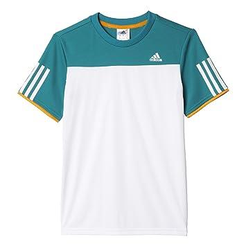 adidas Jungen T Shirt B Club Tee, WeißGrün, 116