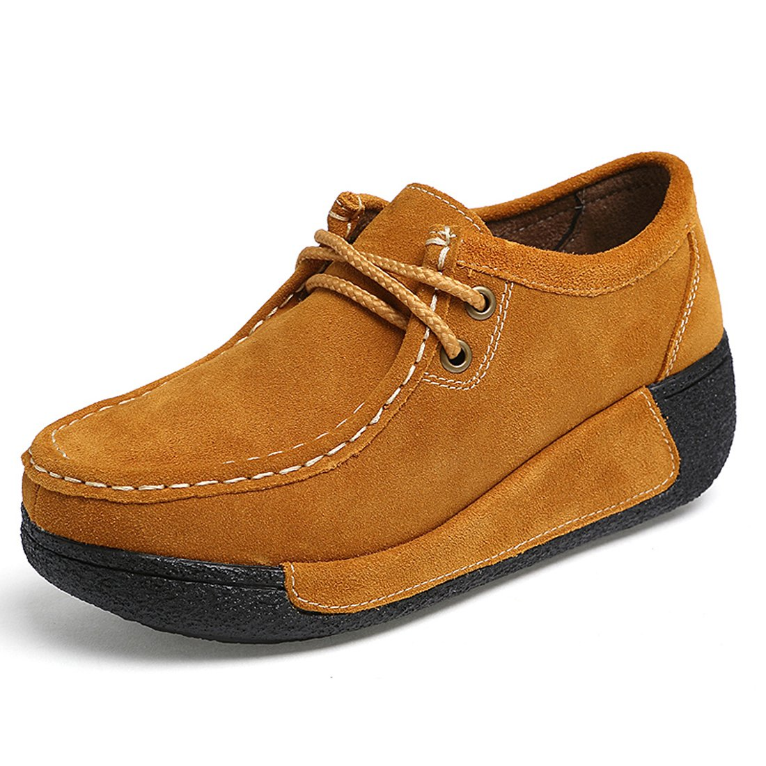 Z.SUO Mocassins Femmes Z.SUO Suède Casuel Loafers Confort Chaussures Jaune Loafers Jaune ef70e16 - latesttechnology.space