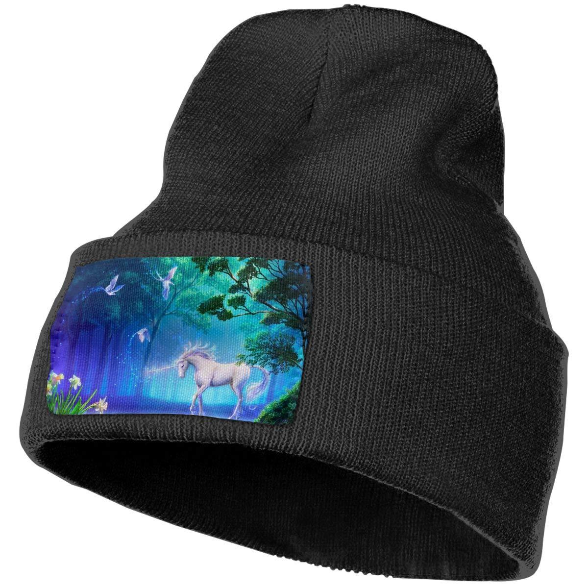 6abbcfcf Black Beanie Hats Beautiful Unicorn Unicorn Unicorn Knit Hedging Cap  Slouchy Winter Warm Skull Caps For Men Womens d0d122