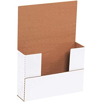 """7-1//2/"""" x 6/"""" x 2-3//4/"""" BROWN FOLDING CORRUGATED CARDBOARD SHIPPING BOXES-25 COUNT"""