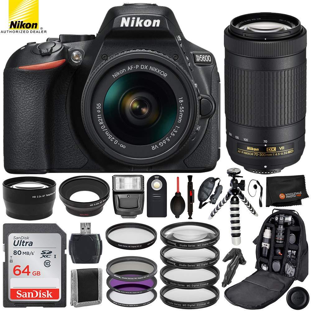 Nikon D5300 con AF-P DX 18-55 mm f/3,5-5,6 VR + AF-DX P 70 ...