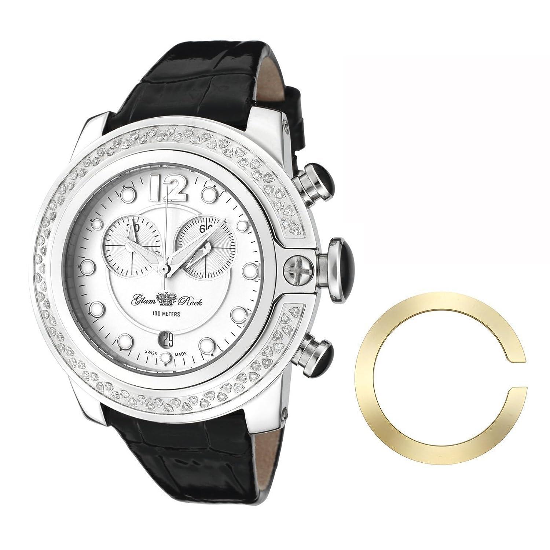 Glam Rock Unisex-Armbanduhr Analog leder schwarz 0.96.2309