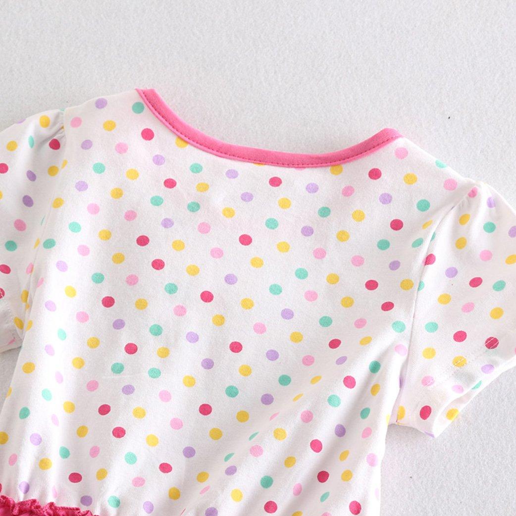 LEMONBABY Peppa Pig Cartoon Baby Girls Skirt Cotton Birthday Dress