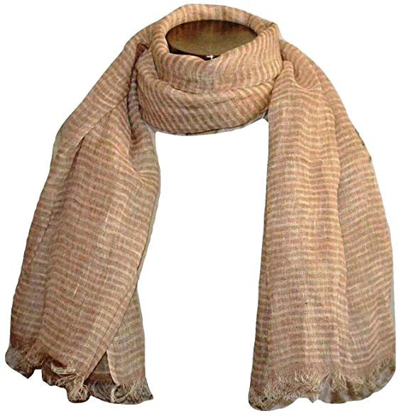 53adeedbc60 100% Pure Linen Scarf, Natural Flax Linen Fabric, Linen Scarf