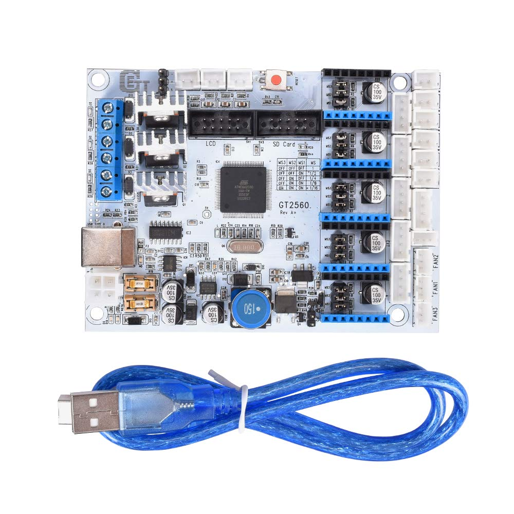 Kingprint Gt2560 Controller Board With Usb Cable For 3d Reprap Ramps 14 Wiring Nwreprapcom Youtube Printer Industrial Scientific