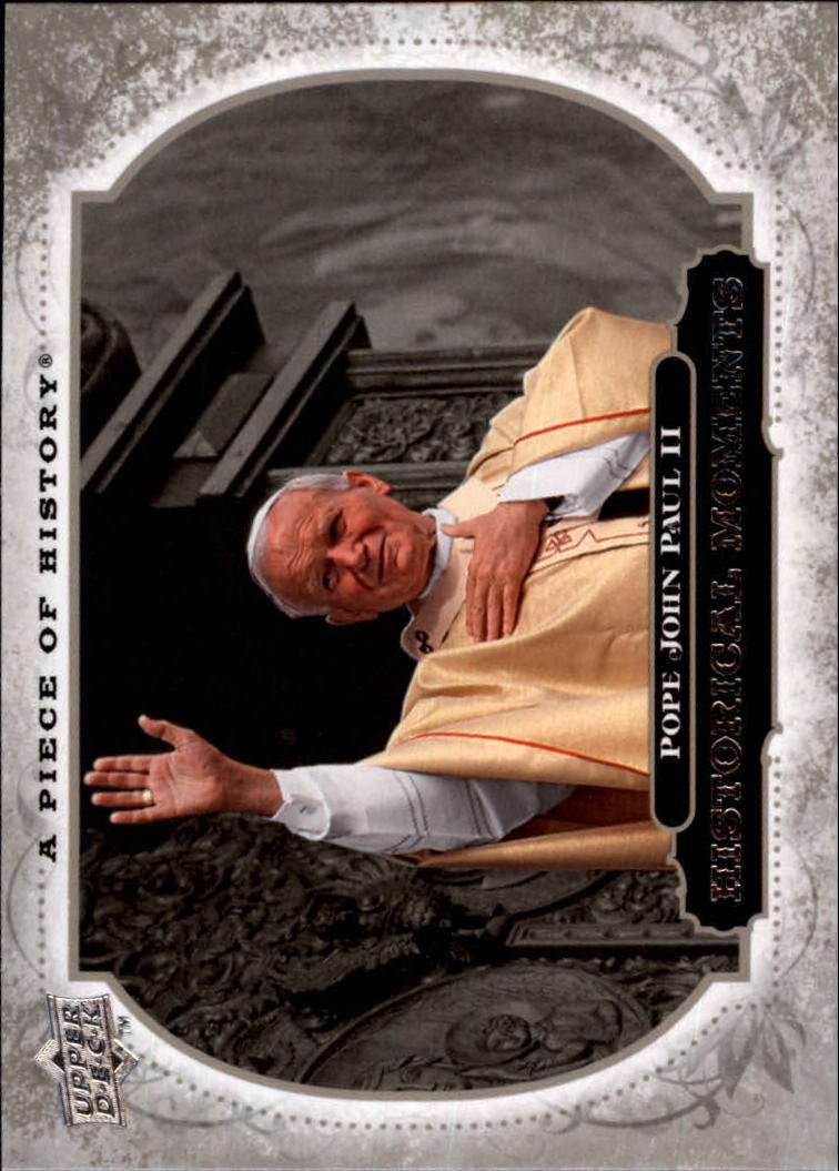 Baseball Cards UD Historical Moment 2008 Upper Deck A Piece of History #184 Pope John Paul II