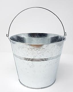 Zinkeimer Silber Mit Henkel In Silber 16 Cm Höhe X 19 Cm (unten 14 Cm