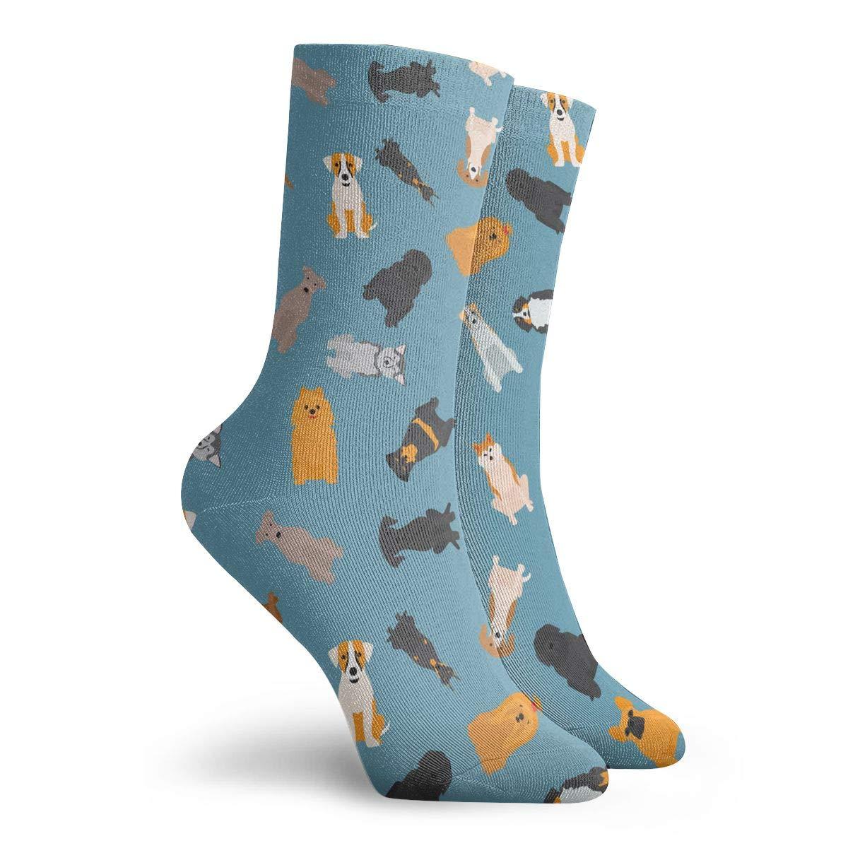 Unisex Different Breed Dog Art Athletic Quarter Ankle Print Breathable Hiking Running Socks