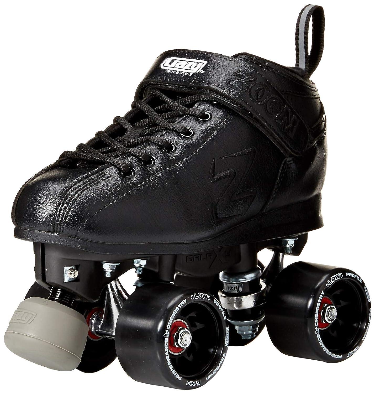 Crazy Skates ズームスピードローラースケート 高性能スピードホイールとベアリング ブラック  Eu33 - US 2