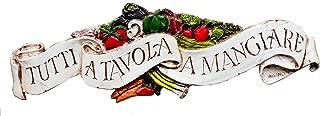 product image for Piazza Pisano Italian Door Topper Plaque Tutti a Tavola Mangiare Large Size