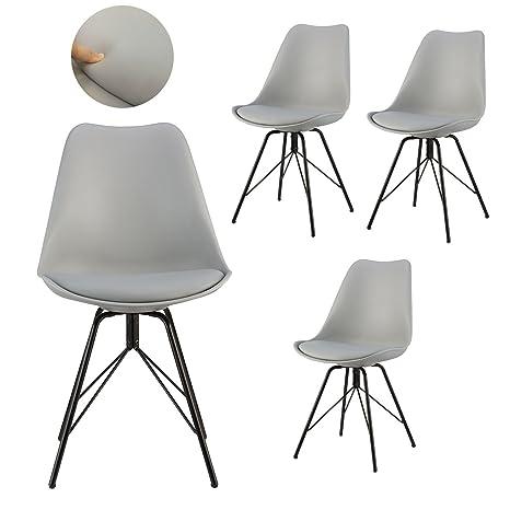 Amazon.com: polorim gris silla silla de comedor muebles de ...