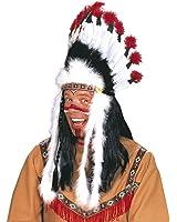 Indian Headress Sitting Bull Accessory for Wild West Cowboy Fancy Dress
